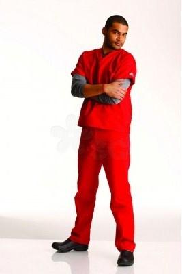New Scrub Zone Unisex Scrub Pant in red