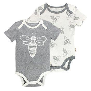 Baby Boy Burt's Bees Baby 2-pk. Organic Bodysuits
