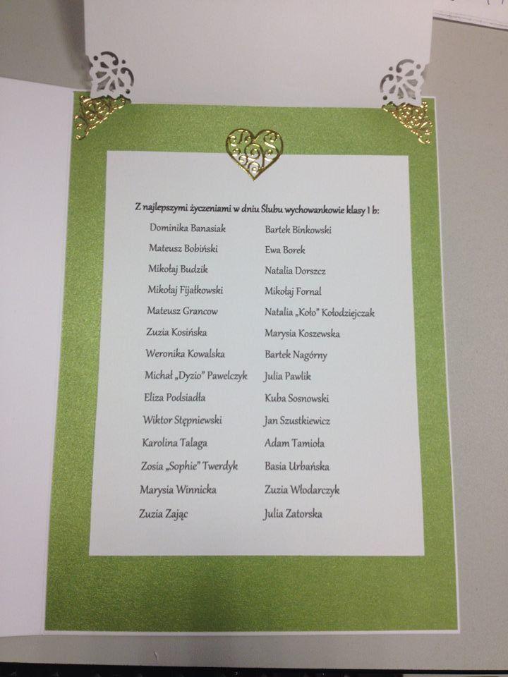 ... i lista uczniów