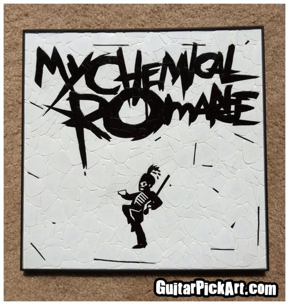 Welcome To The Black Parade ~ My Chemical Romance Guitar Pick Art by GuitarPickArt