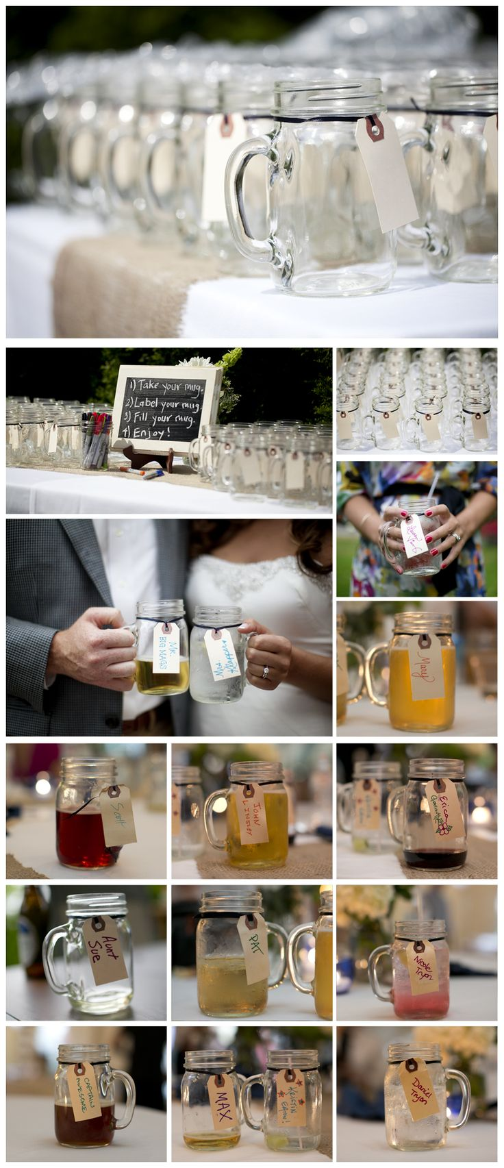 http://www.christinashawphotography.com/meet-mr-mrs-klapper/ backyard wedding mason jars for drinking