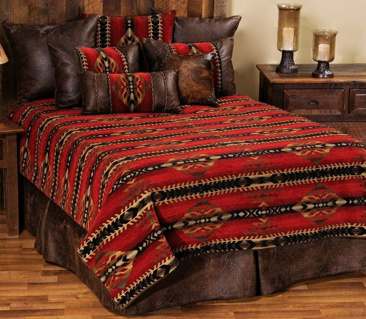 Gallop Deluxe Southwest Bedding Ensemble Set   The Gallop Southwestern  Deluxe bedding set includes a duvet  2 shams  bed skirt  and 3 euro shams. 50 best Southwestern Bedrooms images on Pinterest   Southwestern