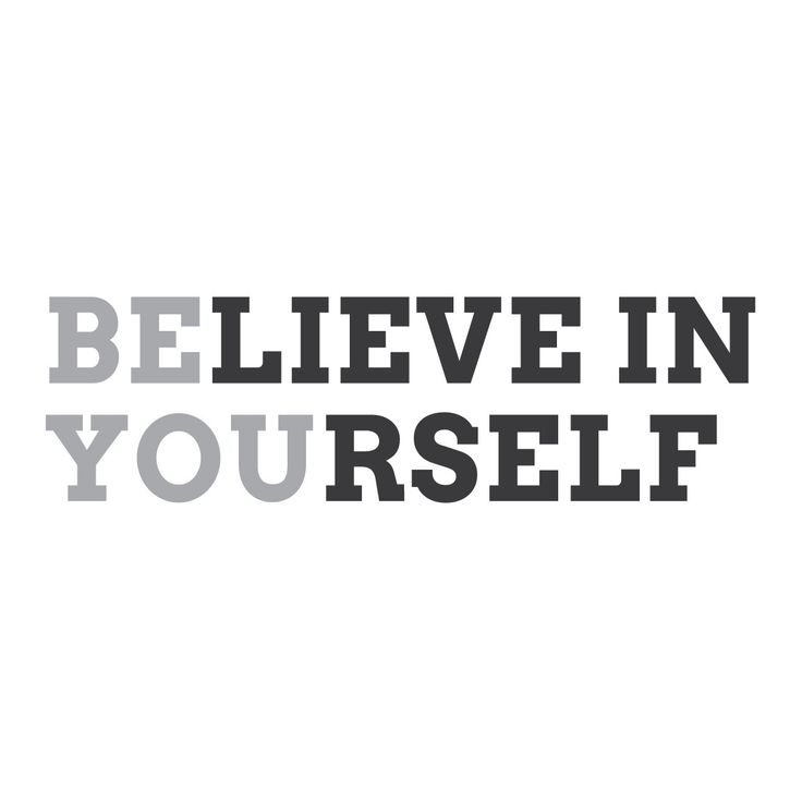 "Wall Quotes Wall Decals - ""Believe In Yourself. Be You."""