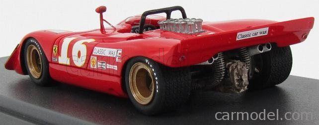 MG-MODEL 43095 Scale 1/43  FERRARI F612 SPIDER ch.0866/68 N 16 CAN AM MID OHIO 1969 C.AMON RED