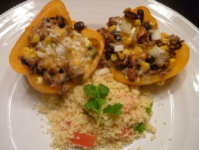 Turkey stuffed peppers, Stuffed peppers and Santa fe on Pinterest