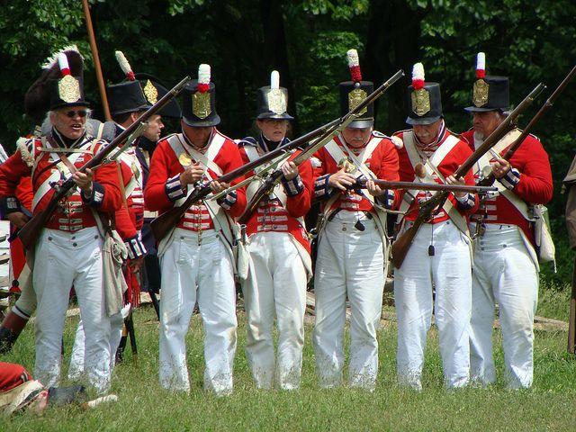 British Soldiers - War of 1812 Re-enactment, Stoney Creek, Ontario   Flickr - Photo Sharing!