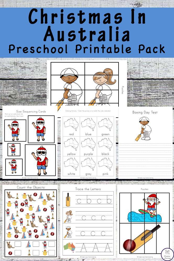 Weihnachten in Australien Preschool Printable Pack – Thematic Units