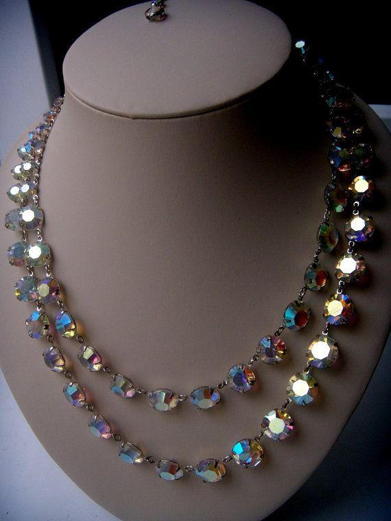 Gorgeous Austria necklace holiday bezel  CHIC bonus от ODMIVINTAGE