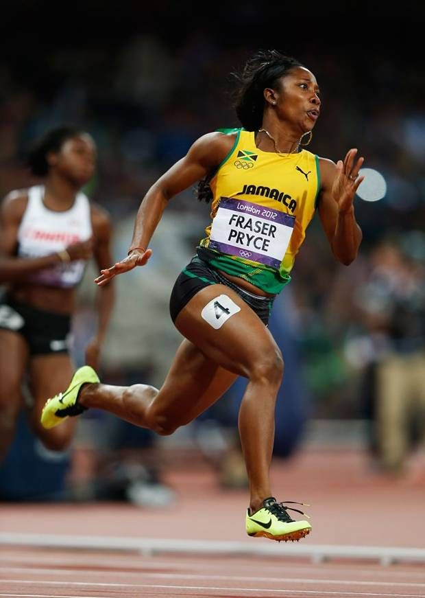 Shelly Ann Fraser Pryce...love her smile