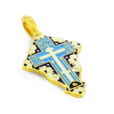 Крест нательный с эмалью из серебра KRSPE0801