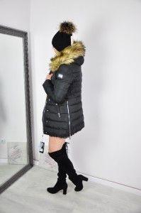 Płaszcz zimowy ELLA - czarna