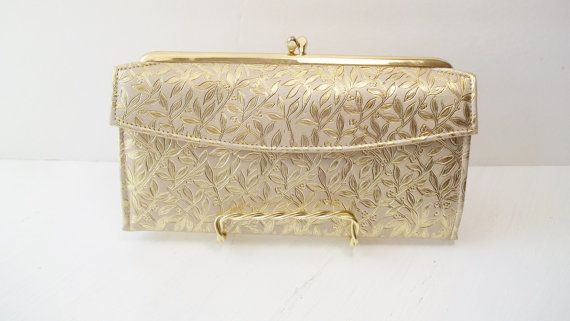 Vintage Rolfs Wallet Clutch Ladie's Gold Leather by WitsEndDesign