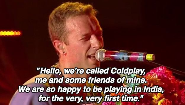 And he randomly made up a little melody about India. | The 25 Most Magical (And WTF) Things That Happened At Coldplay's Concert In Mumbai