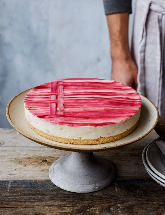 Rhubarb and custard cheesecake - an old favourite reinvented! This stunning cheesecake recipe is the perfect balance of delicate fruitiness and creamy indulgence.