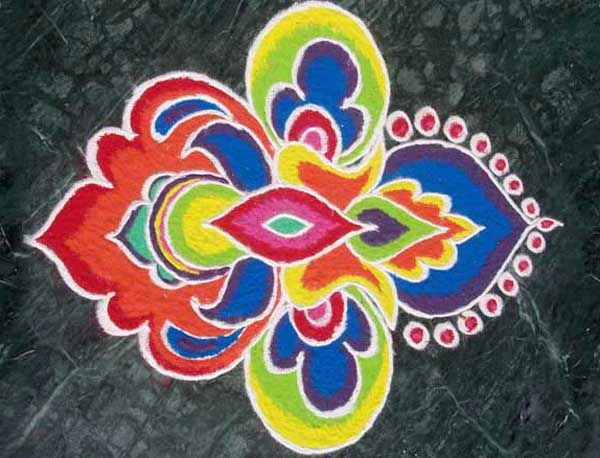 Rangoli Designs Color inspiration