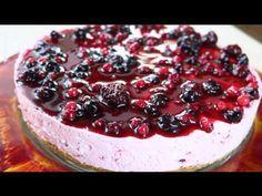 come preparare la Cheesecake ai frutti di bosco. Magnifica torta senza cottura in forno, golosa, fresca e cremosa, procedimento facile