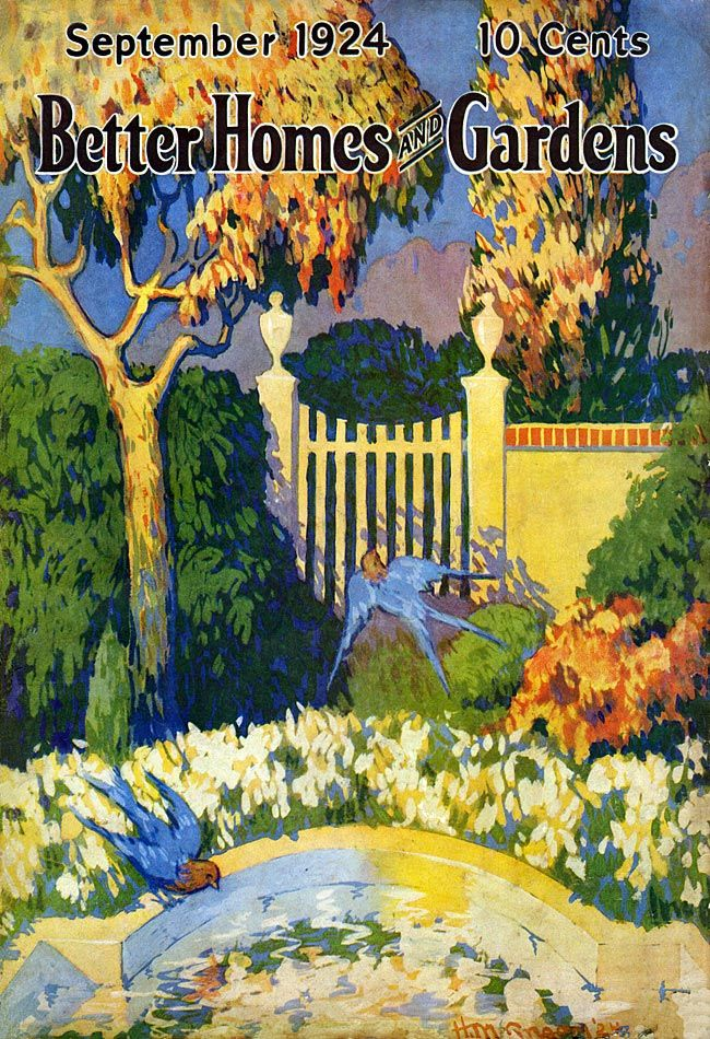 Vintage Magazine   Better Homes U0026 Gardens   September   1924