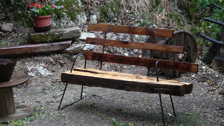 Reclaimed outdoor benches | Recycled Garden Bench mady by Manolo Benvenuti