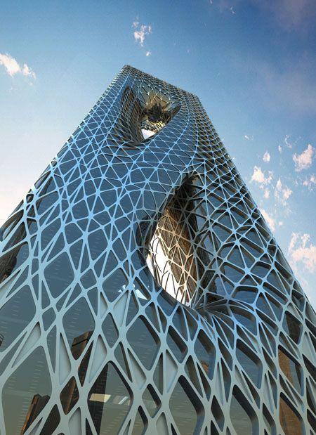 plane vertical elements sunrisetower by zaha hadid - Zaha Hadid Architect Buildings