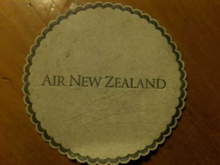 Air New Zealand glass coaster