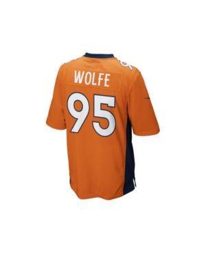 Nike Men's Derek Wolfe Denver Broncos Game Jersey - Orange L