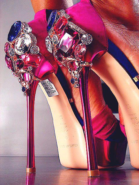 So Like I know I can make that!!!: Fashion, Jewel, Style, Wedding Shoes, Shoe Porn, Highheels, Pink, High Heels, Shoes Shoes