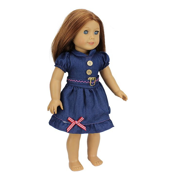 New Arrival 2016 Fashion Jean Skirt For 18 inch American Girl Doll Clothes