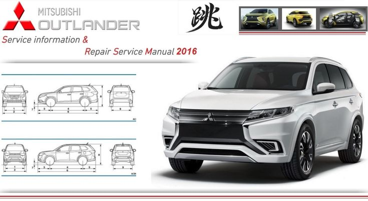 MITSUBISHI OUTLANDER 2016 WORKSHOP SERVICE  MANUAL