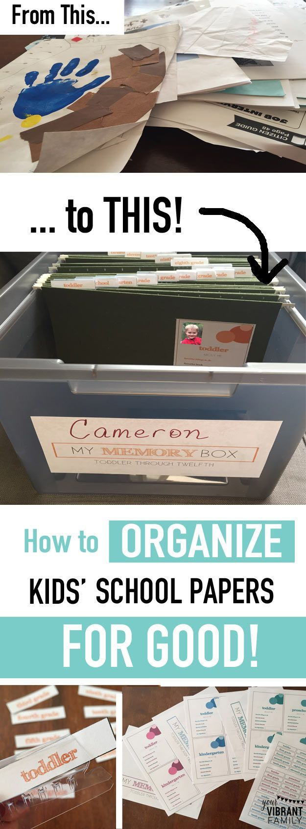 Oh my gosh... YES! Finally a great way to organize kids school papers once and for all-- from their toddler years through twelfth grade! What a great keepsake to pass on to your kids too! Hundreds of moms are loving this amazing method to organize school
