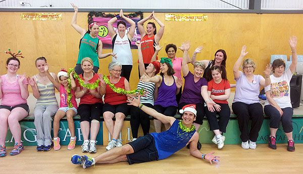 Zumba Fitness Class for Christmas at Flagstaff Hill, Adelaide, South Australia.