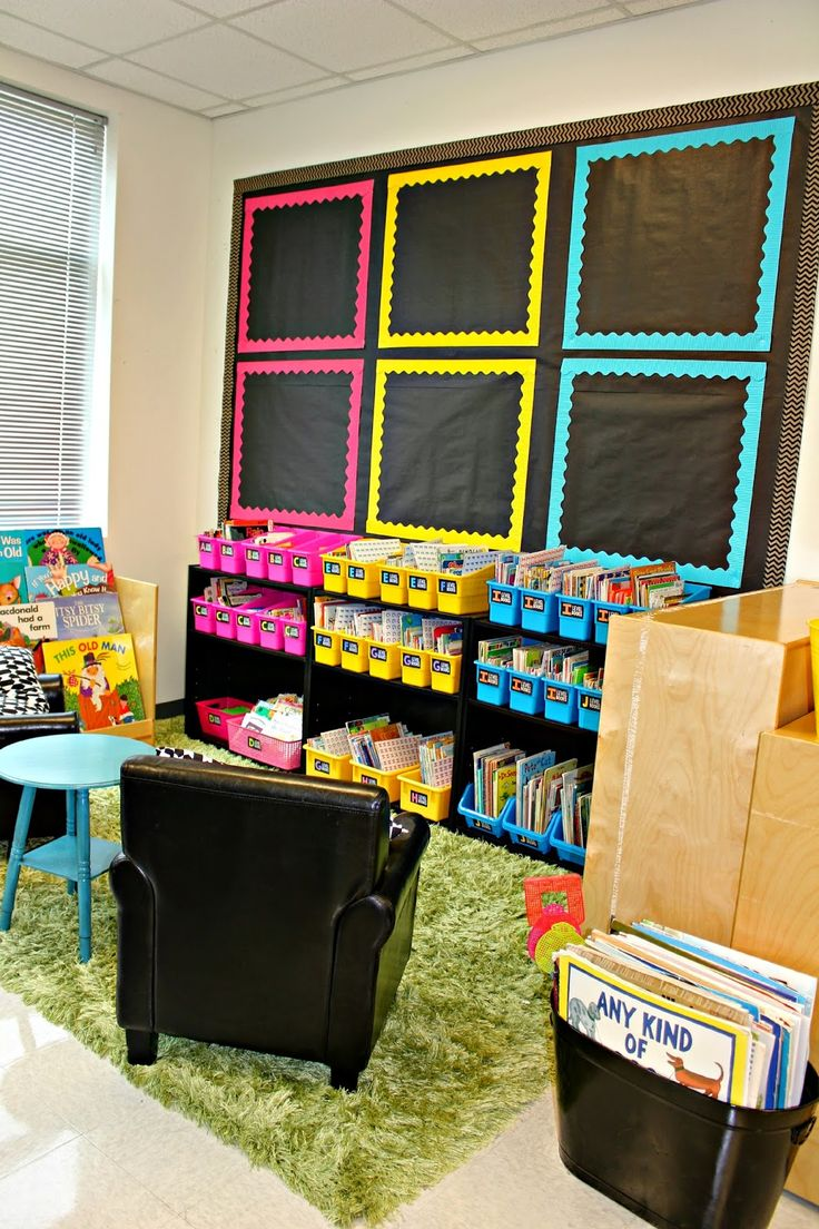 Classroom Tour 2014-2015 - I like the black paper and pops of color from the borders.: