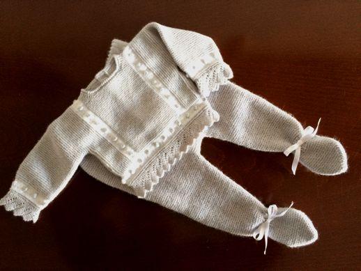 elrincondemoona | Conjunto de suéter, peucos y gorrito Ana