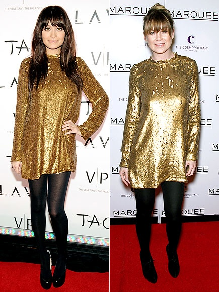 Nicole Richie and Ellen Pompeo  wearing Winter Kate design
