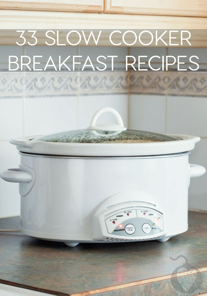33 slow cooker breakfast recipes to be the bomb and the for Slow cooker breakfast recipes for two