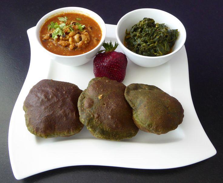 Augenbohnen, Spinat, und Puri mit Spinat! Rezepte auf www.karai.de