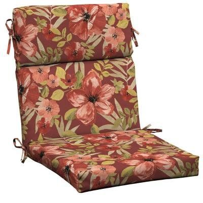 Home Makeover  Chili Tropical Blossom Outdoor Dining Chair Cushion * This is an Amazon Associate's Pin. Clicking on the VISIT button will lead you to find the item on the website.