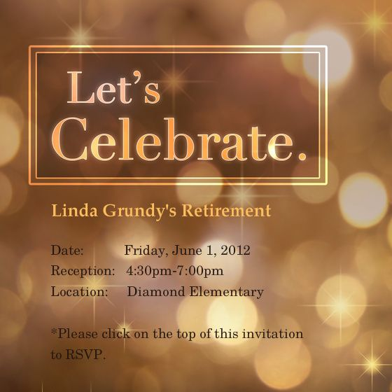 Retirement Invites Template  BesikEightyCo
