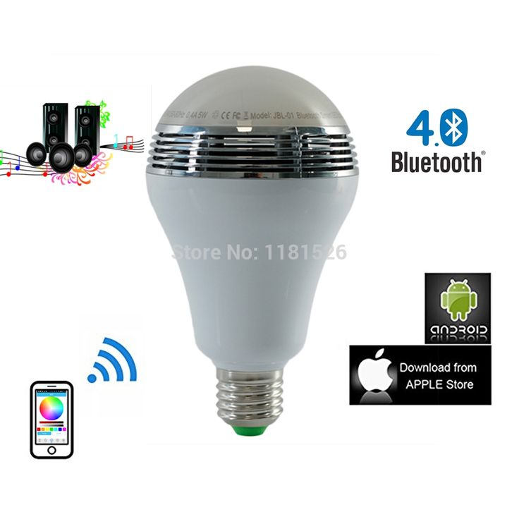 31.84$  Watch now - http://aijtq.worlditems.win/all/product.php?id=32310456918 - New Arrived Wireless Bluetooth 4.0 Speaker Smart RGB 5W E27 LED Light Bulb Music Speaker LED Lamps