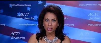 Brigitte Gabriel spoke at the Global Anti-Semitism Summit at the United Nations in New York City on September 9, 2014. Description from counterjihadreport.com. I searched for this on bing.com/images