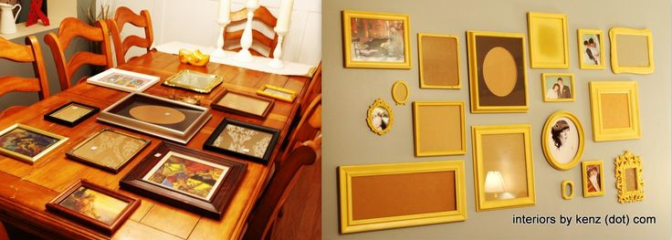 Spray Paint Picture Frames for a Gallery Wall