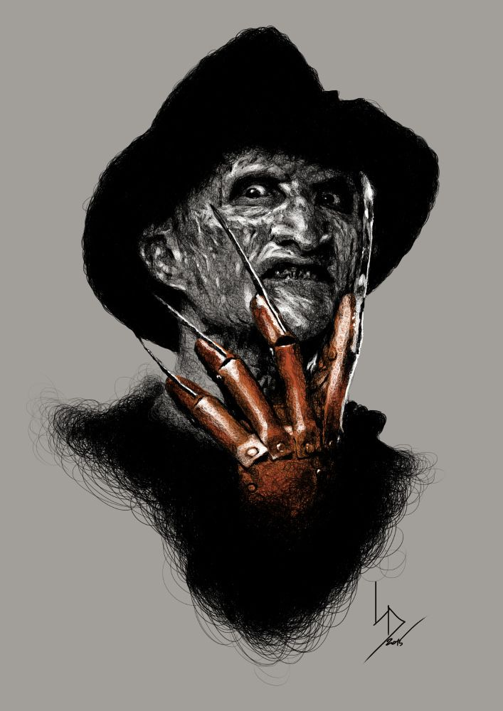 https://flic.kr/p/xXbRZp | Freddy Krueger (color glove) | 2015 / digital drawing / 2480x3580 px