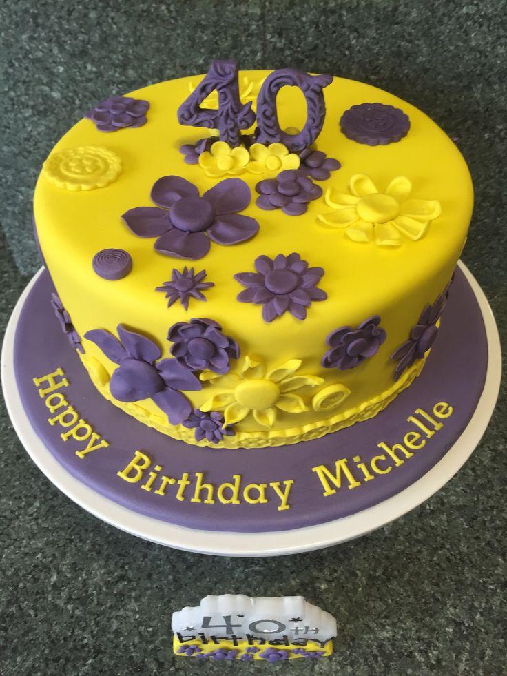 40th Michelle Happy birthday michelle, Unique cakes, Cake