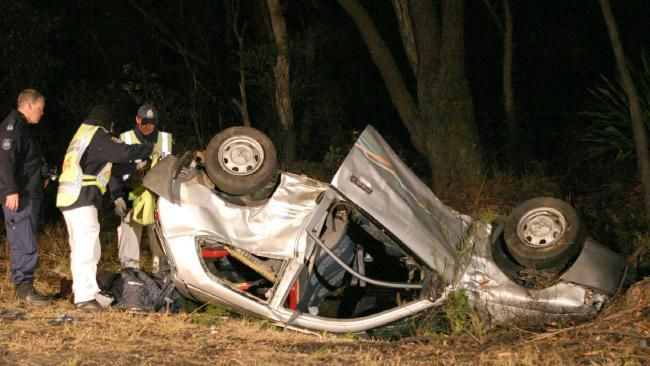 Two people died in this single car crash in 2004