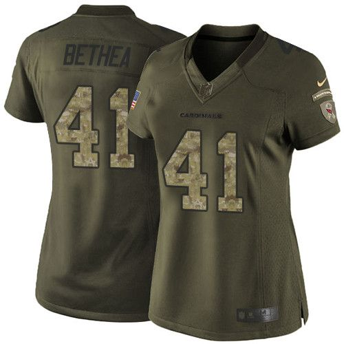 $24.99 Women's Nike Arizona Cardinals #41 Antoine Bethea Limited Green Salute to Service NFL Jersey