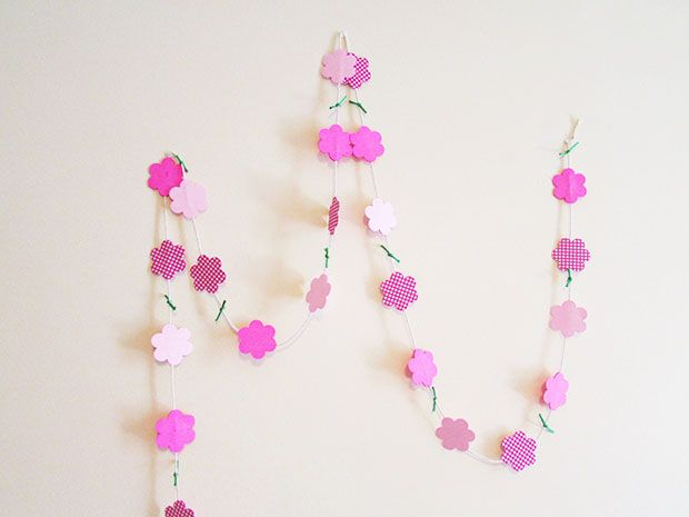 Ανθισμένος τοίχος #paper #garland #diy #craft #tutorial #flower #floral #home #decor
