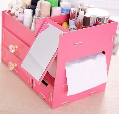 Визажиста самодельный деревянный ящик для хранения ювелирных изделий косметический контейнер макияж коробка