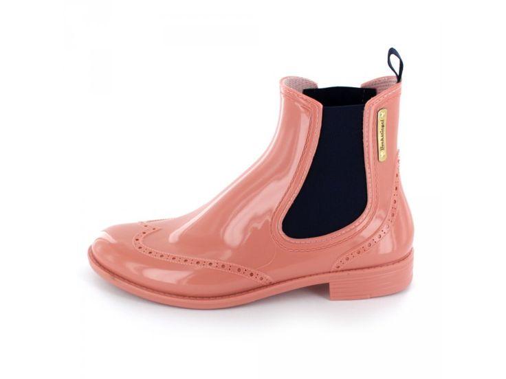 Bockstiegel - Damen Chelsea Gummistiefel in rosé