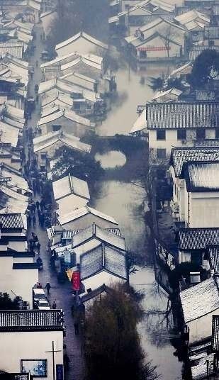 Shaoxing, first snow