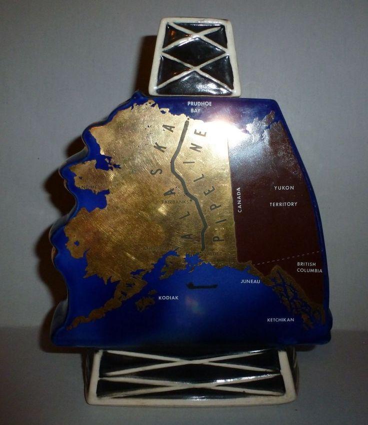 Vintage Alaskan Pipeline 1975 Hoffman Distilling Co KY Whiskey Bottle Decanter  #HoffmanDistillingCo