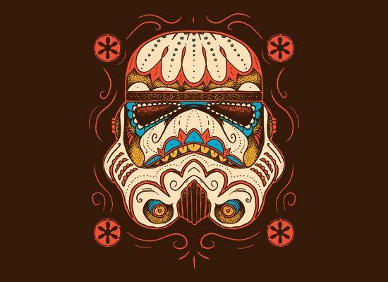 Sugar skull trooper. Via snorgtees.com